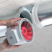 Ductless silent fans for hoods: existing types of devices and their operating parameters