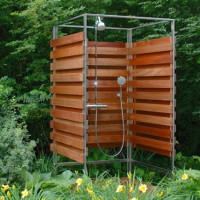 DIY garden shower: technology features and main stages of construction