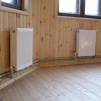 Steam heating in a private house and in a country house based on a stove or boiler