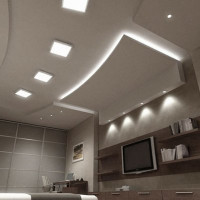 Bulbs for suspended ceilings: rules for the selection and connection + layout of lamps on the ceiling