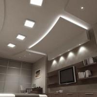 Ampoules pour plafonds suspendus: règles de sélection et de raccordement + disposition des lampes au plafond