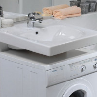 Sink above the washing machine: design features + mounting nuances