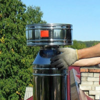 Gas boiler chimney deflector: installation requirements and installation rules
