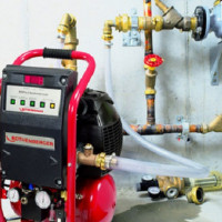 Flushing gas heating systems: flushing methods and procedure