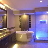 Lighting in the bathroom: DIY LED lighting