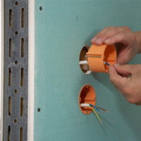 Installation of socket boxes: how to install socket boxes in concrete and drywall