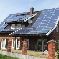 Heating a private house with solar panels: schemes and device