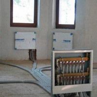 How the radial heating system works: schemes and wiring options