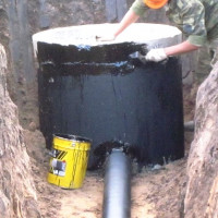 Waterproofing a septic tank made of concrete rings: a review of materials + rules for implementation