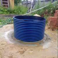 Plastic insert in the well: step-by-step installation instructions