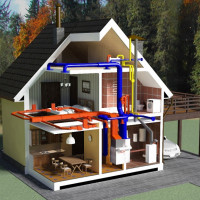 Cottage heating: schemes and nuances of organizing an autonomous heating system