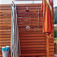 Trä duschar för sommarstugor: DIY-sommarduschkonstruktion
