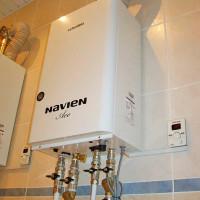 Maintenance des chaudières à gaz Navien: instruction d'installation, de raccordement et de configuration