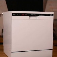 Candy CDCF 6E-07 dishwasher overview: is it worth buying a miniature