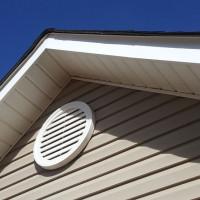 Ventilation dans une maison privée par le fronton: options d'aménagement