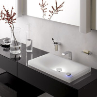 Overhead sink on the countertop in the bathroom: how to choose + installation manual