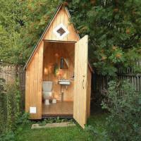 Šalies tualeto brėžinys: populiarios nepriklausomo projekto statybos schemos