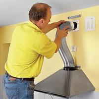 Comment connecter une hotte de cuisine à la ventilation: un guide de travail
