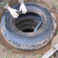 DIY drain pit from tires: step-by-step instructions for arranging