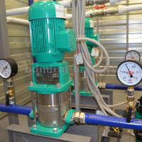 Principle of operation and design of a typical pumping station for water supply