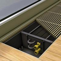 Convecteurs de chauffage au sol: types, caractéristiques d'installation et de disposition