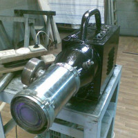 DIY heat gun: manufacturing options for different types of fuel