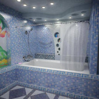 Lampes dans la salle de bain au plafond: types, principes de placement, nuances d'installation