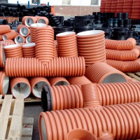 Corrugated pipes for external sewage: types, rules and standards of application