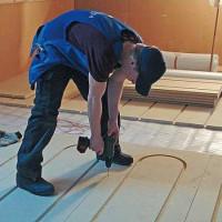 Heated floor under linoleum on a wooden floor: step-by-step installation instruction