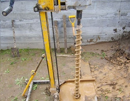 Auger needle drilling