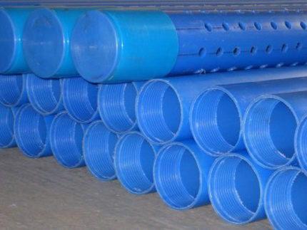 Plastic pipe downhole filter