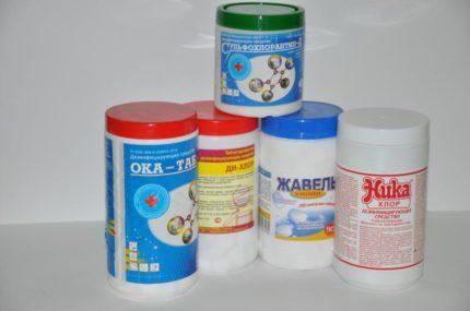 Chlorine-based household chemicals