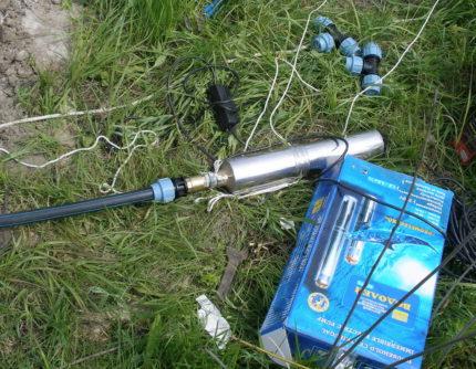 Pump Aquarius for pumping a well
