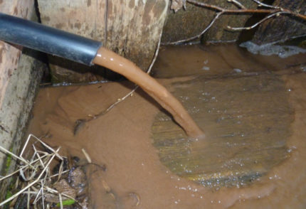 Airlift flushing a well is a reliable and quick way to clean