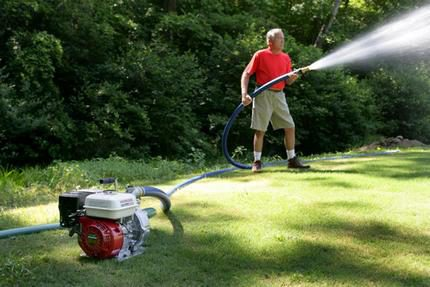 Powerful irrigation equipment for large areas