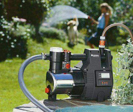 Pond watering irrigation