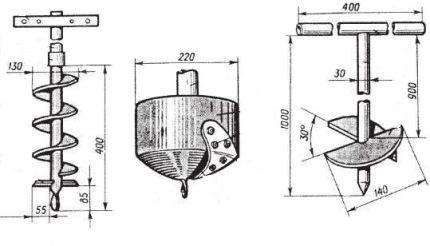 Spiral Drill Drawing