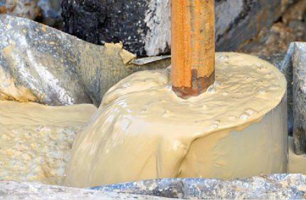 Flushing drilling