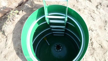 The hatch is placed above the well