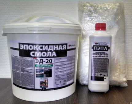 Epoxy for repair of an electromagnet