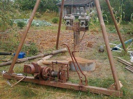 Installation de corde de choc