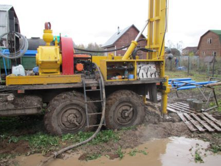 Spring well drilling