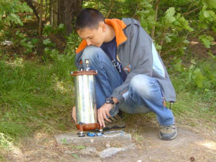 Hydroscopic exploration - groundwater search method