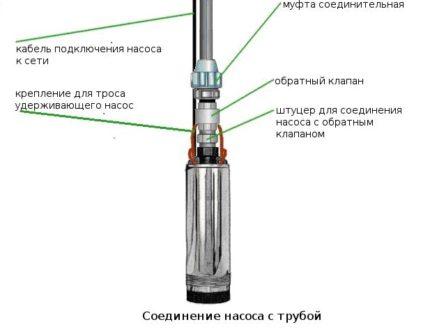 Water pump check valve