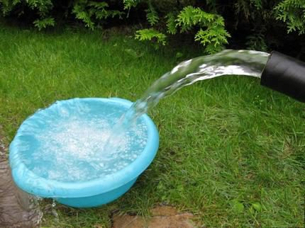 Purified water from the washed well