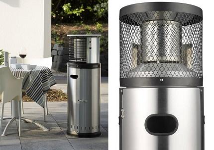 Outdoor gas heater column