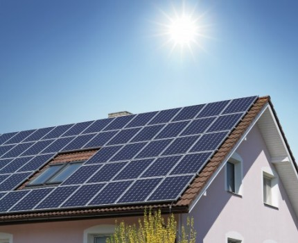 An example of installing panels - solar energy traps
