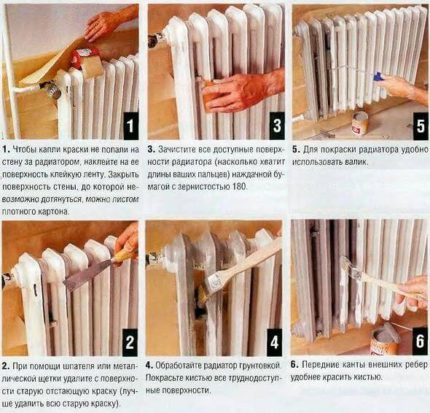 How to better paint a heating battery