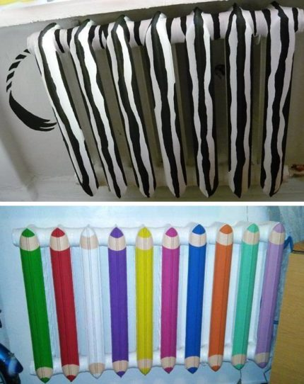 How to paint and decorate a radiator in a nursery