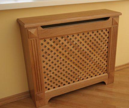 Comment fermer un radiateur avec un écran en bois